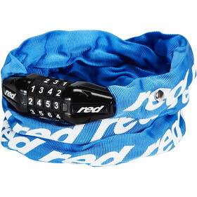 Red Cycling Products Secure Chain Cykellås Kan nulstilles, blue